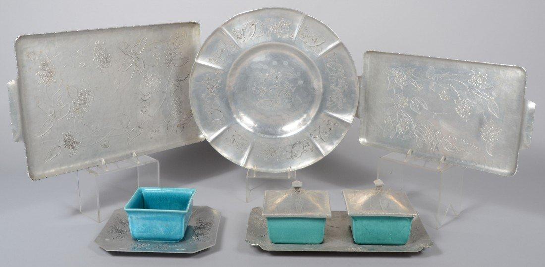 175: Five Pieces of Bittersweet Pattern Aluminum by Wen