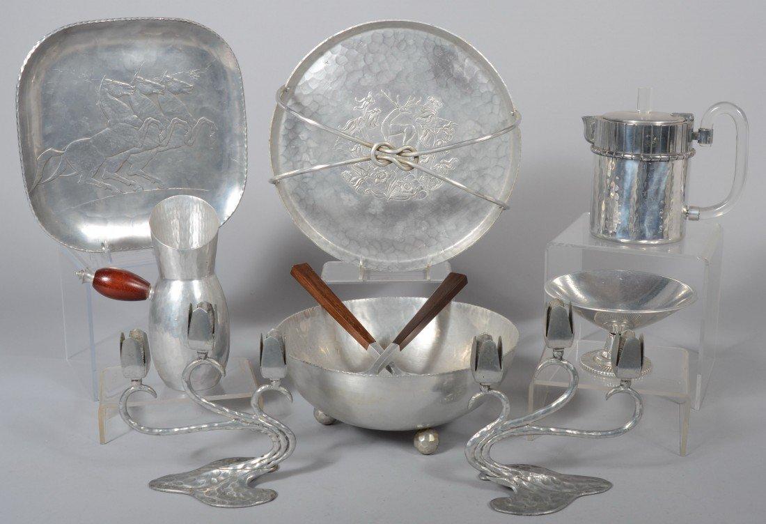 180: Ten Pieces of Art Nouveau and Art Deco Style Alumi