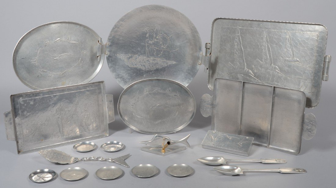 181: 18 Pieces of Ocean Related Aluminum by various mak