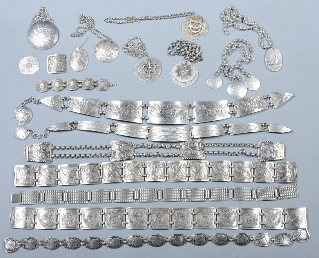191: 15 Pieces of Aluminum Jewelry by Various Makers an