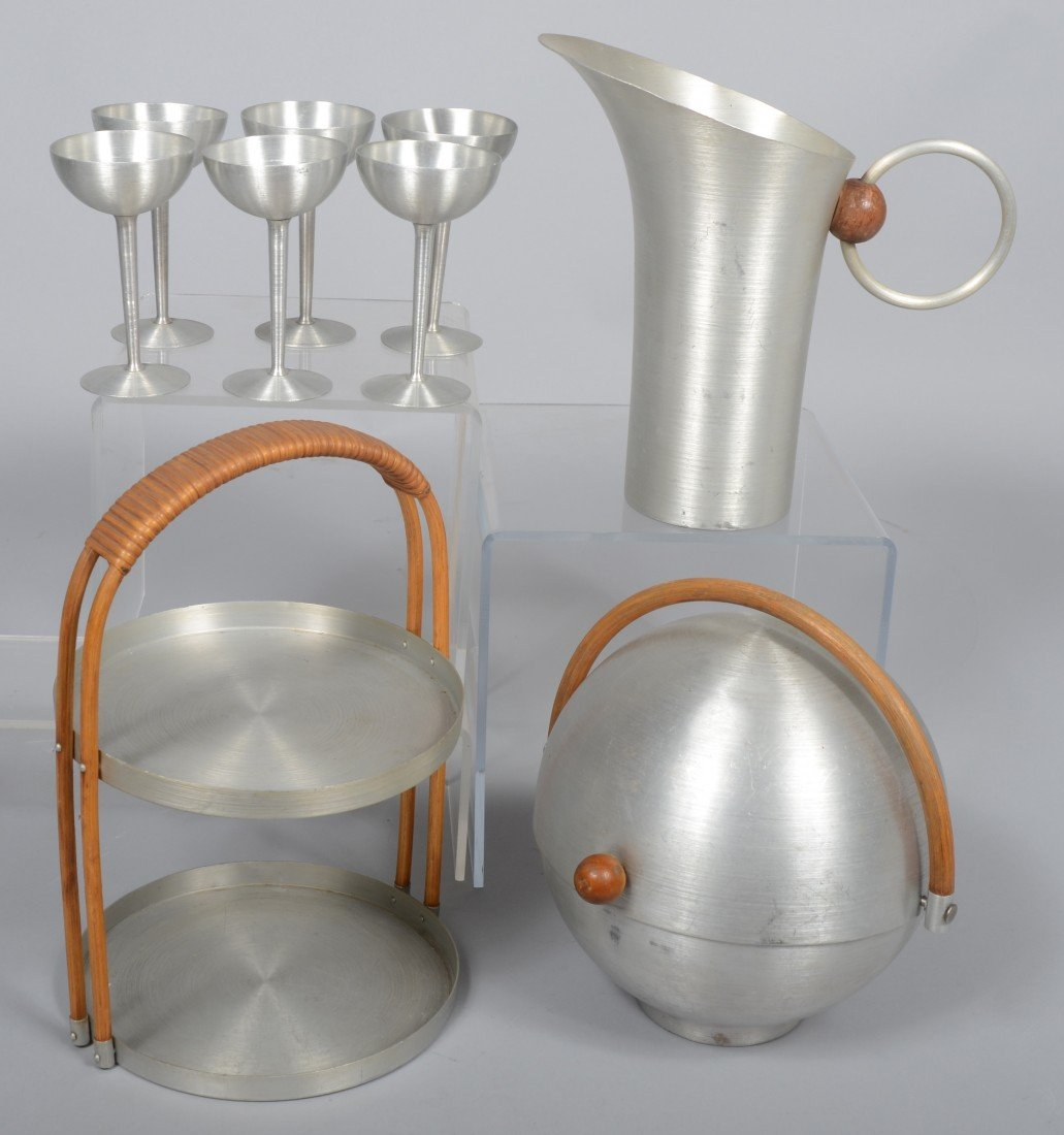 307: Nine Pieces of Russel Wright Spun Aluminum; 10 1/2