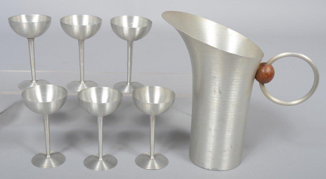 307: Nine Pieces of Russel Wright Spun Aluminum; 10 1/2 - 2