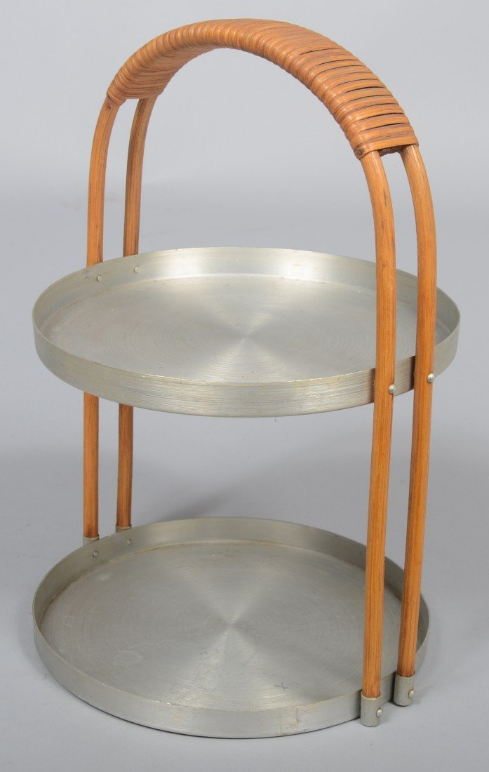 307: Nine Pieces of Russel Wright Spun Aluminum; 10 1/2 - 3