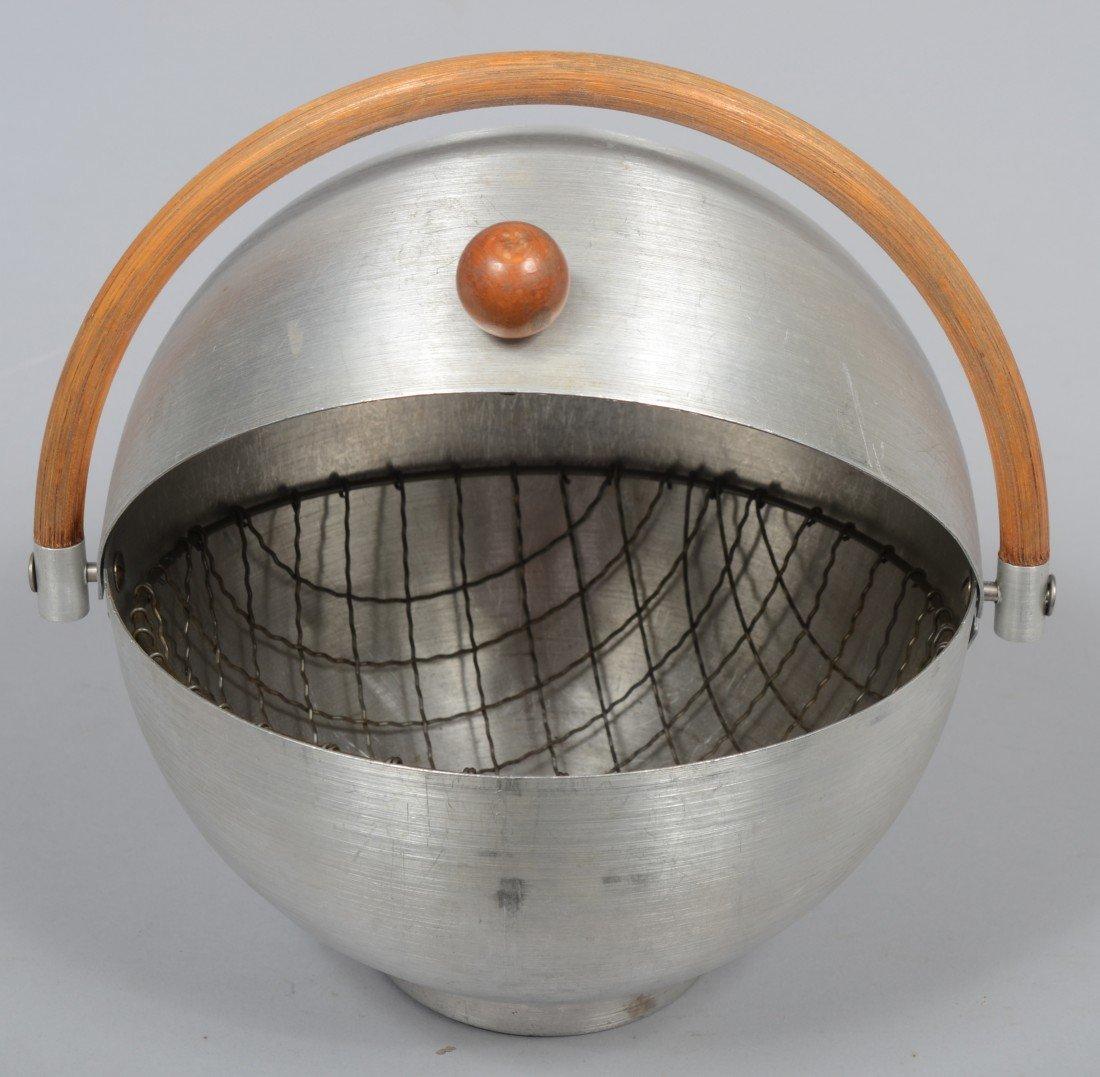 307: Nine Pieces of Russel Wright Spun Aluminum; 10 1/2 - 5