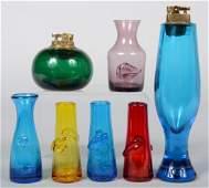 420: Seven Piece Group of Blenko Glass, five multi-colo