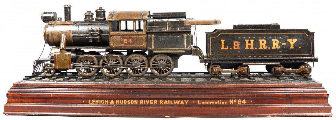 "586: Railroad Model. Marked: ""Lehigh & Hudson River Rai"
