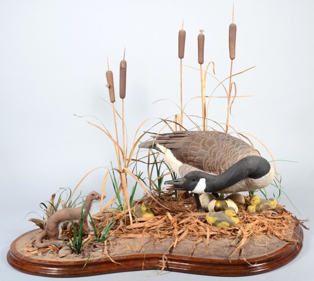 737: Abram Rissler Realistic Carved and Painted Natural