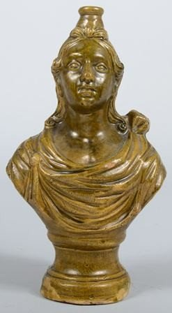 739: Earthenware Jug in the form of Bust of a Woman in