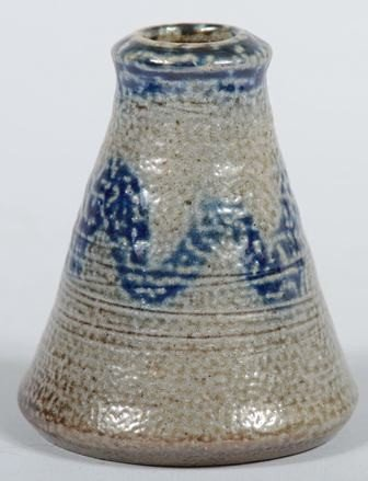 743: Conical Stoneware Inkwell with Cobalt Decoration.