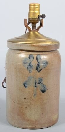 756: Cobalt Decorated Stoneware Crock. Made up as a tab