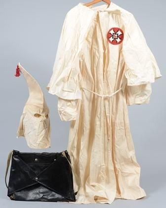 1231: Vintage Ku Klux Klan Uniform with carrying case