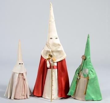 1236: Group of Three Vintage Ku Klux Klan Dolls/Figures