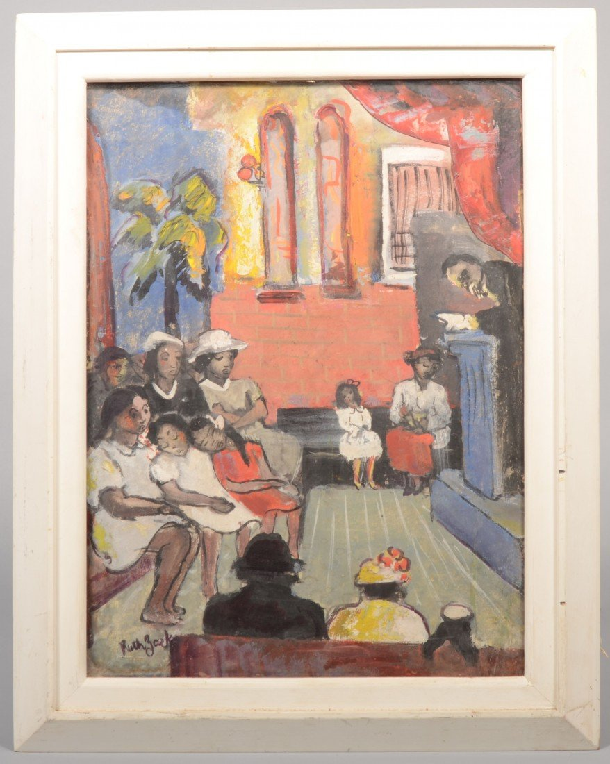 19: View of a Black Congregation Church Scene, mixed me
