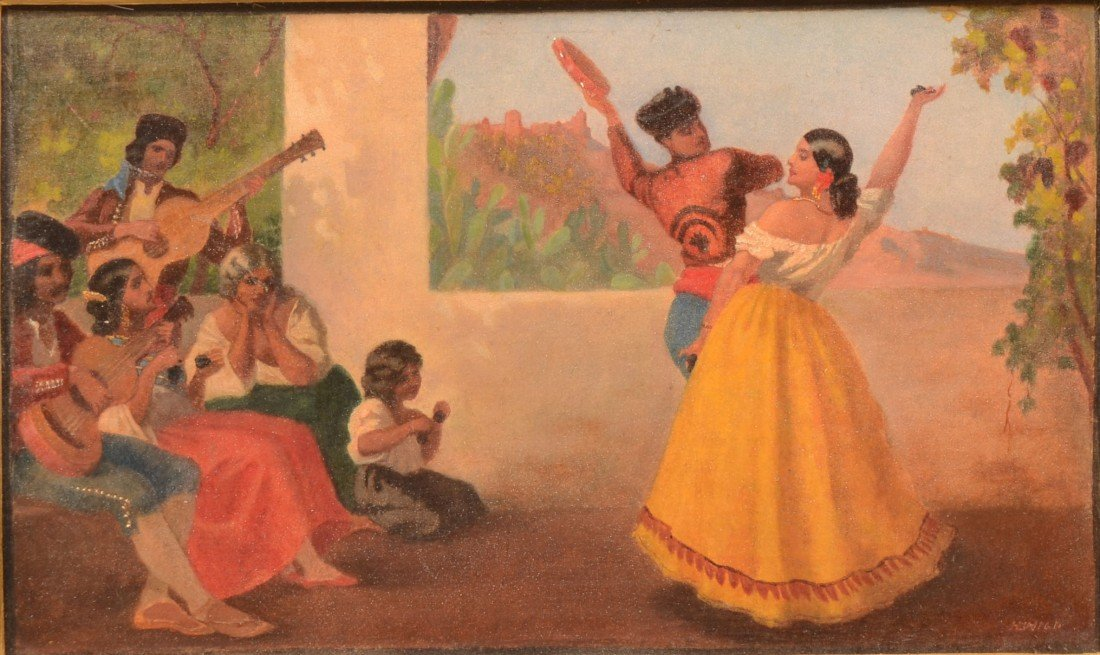 24: Flamenco Dancers with Musicians and Audience, tempe - 2
