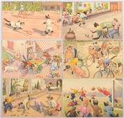 644 Alfred Mainzer Sports Themed Cat Postcards Six ca