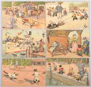 645 Alfred Mainzer Themed Cat Postcards Six cards inc