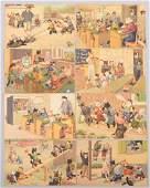 646 Alfred Mainzer Grade School Themed Cat Postcards