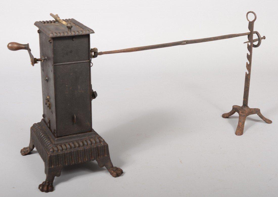 141: Free Standing Clockwork Rotisserie Engine. Brass m