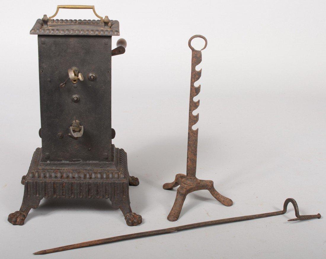 141: Free Standing Clockwork Rotisserie Engine. Brass m - 2