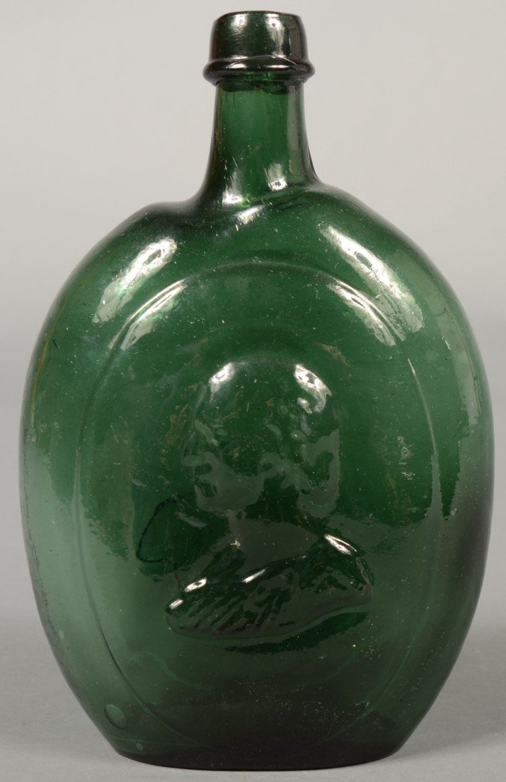 193: Deep Green Glass Washington/Taylor Quart Size Port