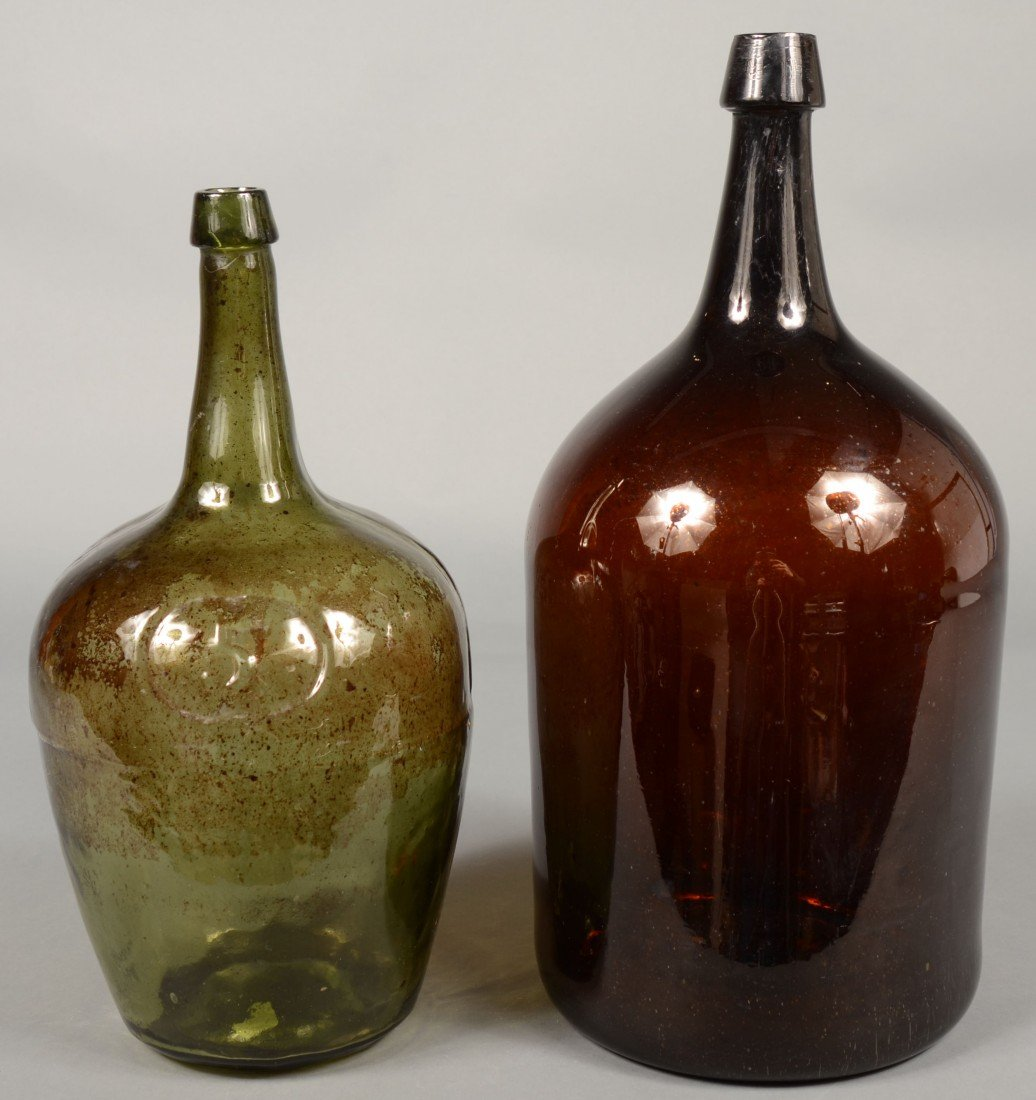 195: Two Late 18th/Early 19th Century Blown Glass Stora
