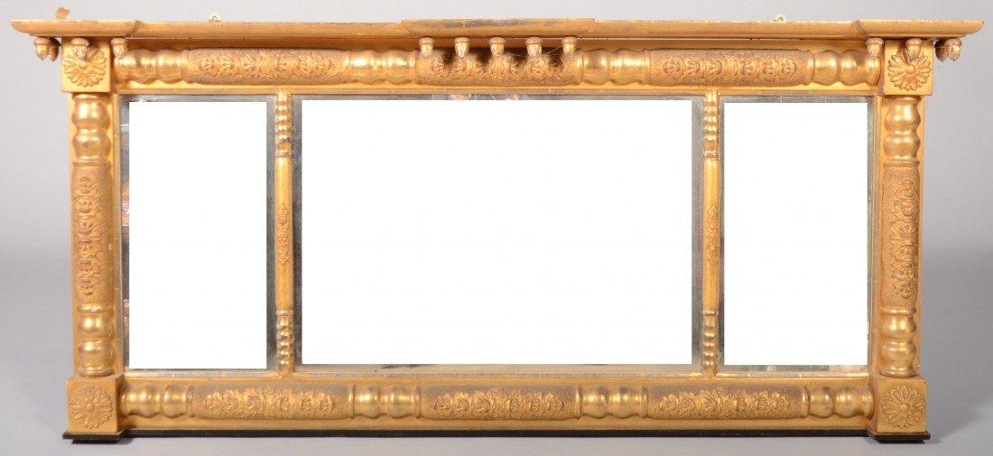 245: American Federal Gilt Frame Adams Mirror, circa. 1