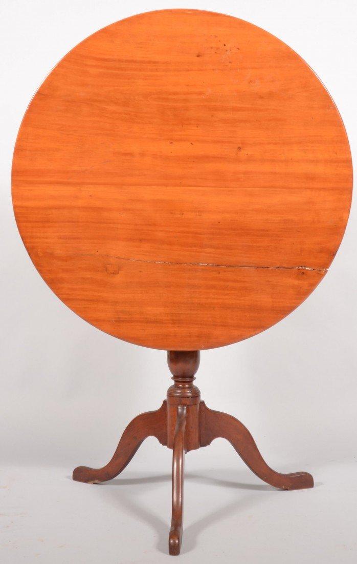 247: American Queen Anne Cherry Tilt Top Tea Table, cir