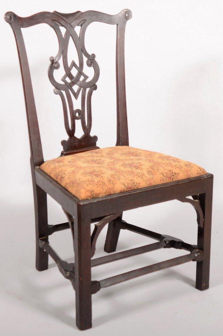 252: Chippendale Centennial Mahogany Sidechair, circa.