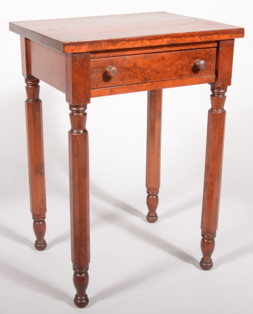 257: Country Federal Cherry One Drawer Workstand, circa