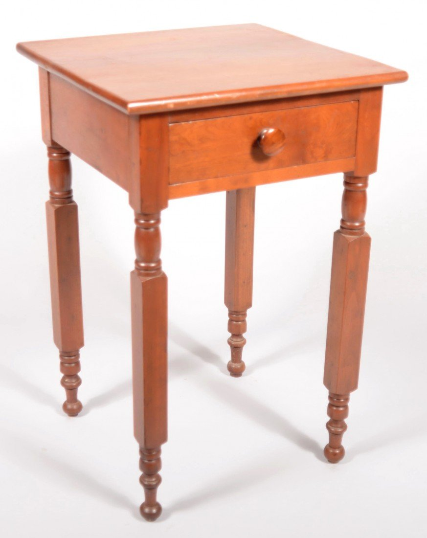 260: Country Federal Cherry One Drawer Workstand, circa