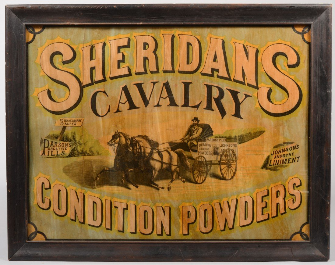 1: Sheridan's Cavalry Condition Powders. Color lithogra