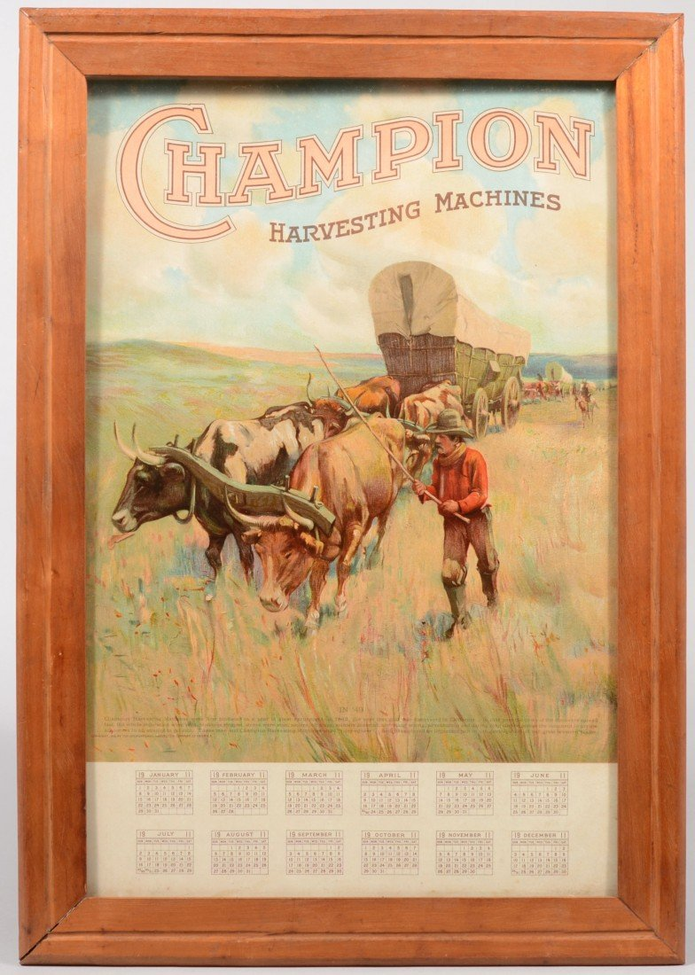4: Champion Harvesting Machines Chromolithographic Cale