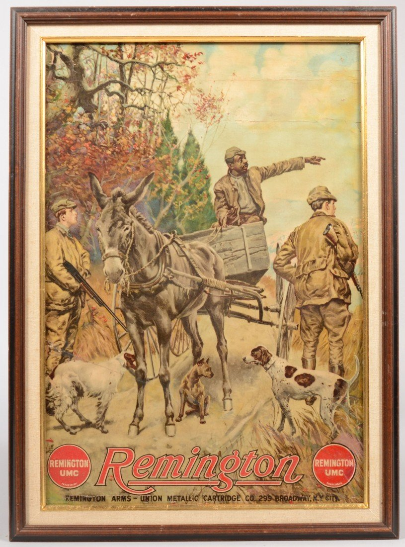 10: Remington U.M.C. Poster in Frame. Chromolithograph