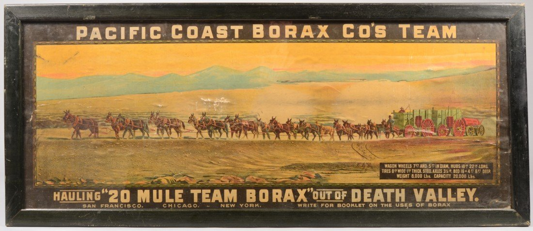 16: 20 Mule Team Borax Color Lithographic Poster. Title