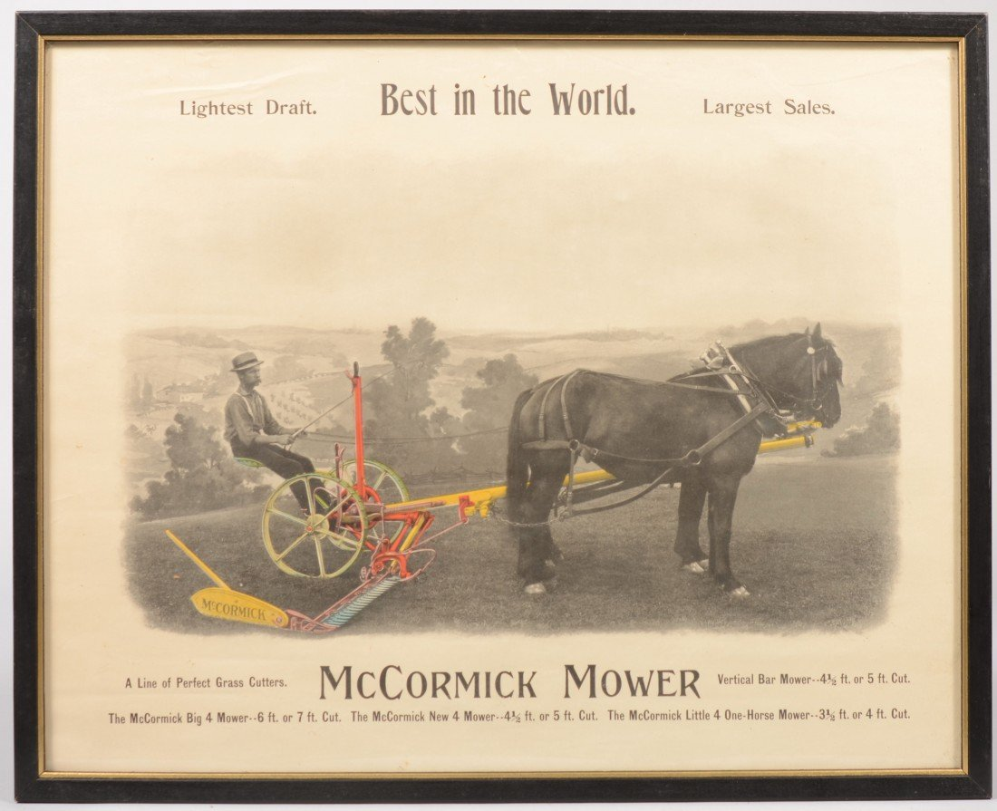 17: McCormick Mower Advertisement. Colored B&W photogra