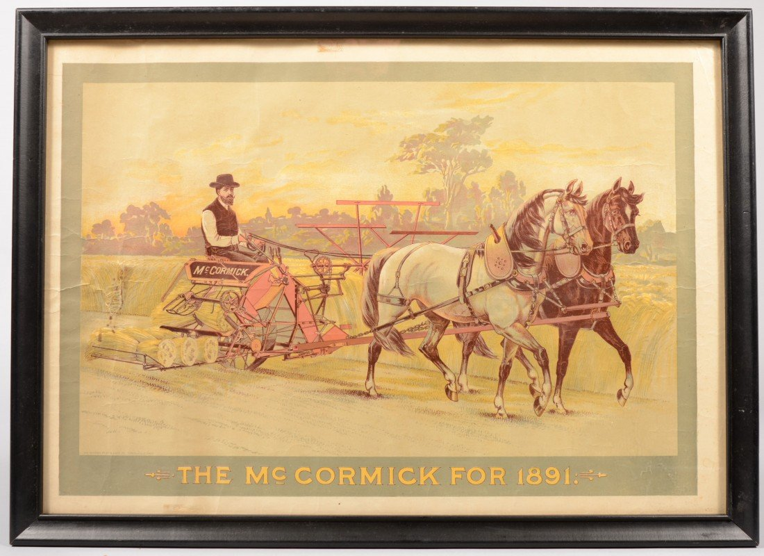"18: ""The McCormick for 1891"" Color Lithographic Poster."