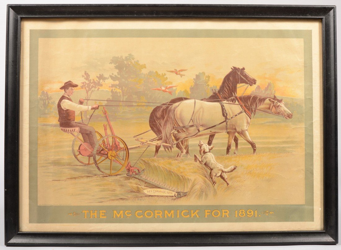 "19: ""The McCormick for 1891"" Color Lithographic Poster."