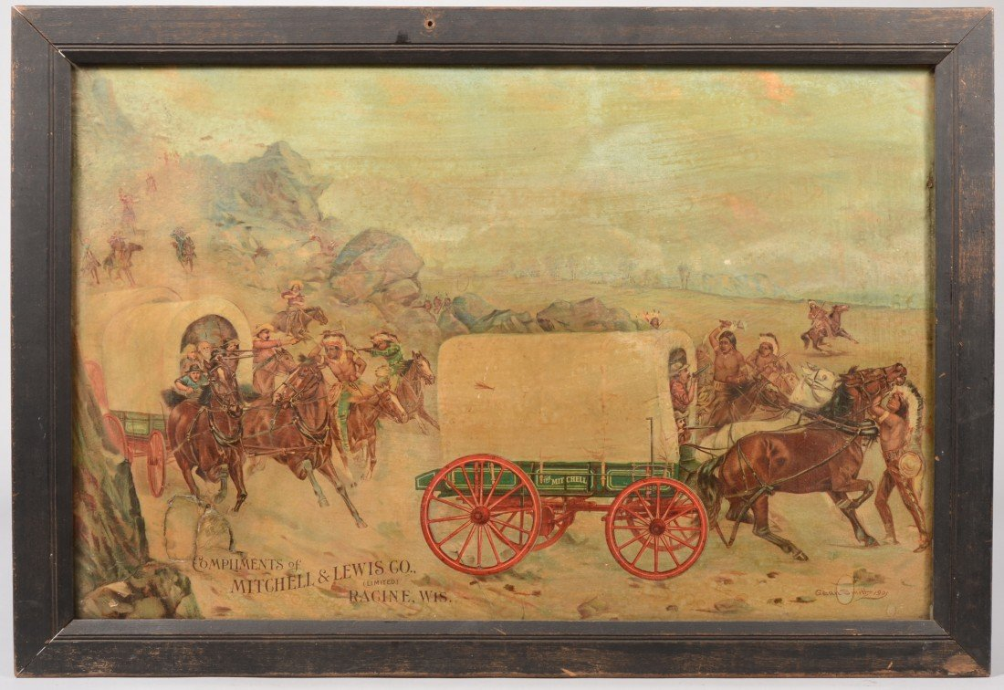 24: Mitchell & Lewis Co. (Wagons) Lithographic Advertis