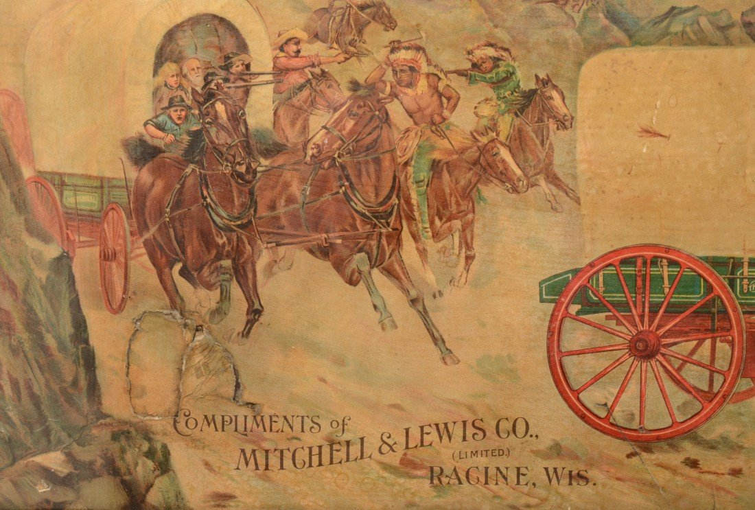 24: Mitchell & Lewis Co. (Wagons) Lithographic Advertis - 2
