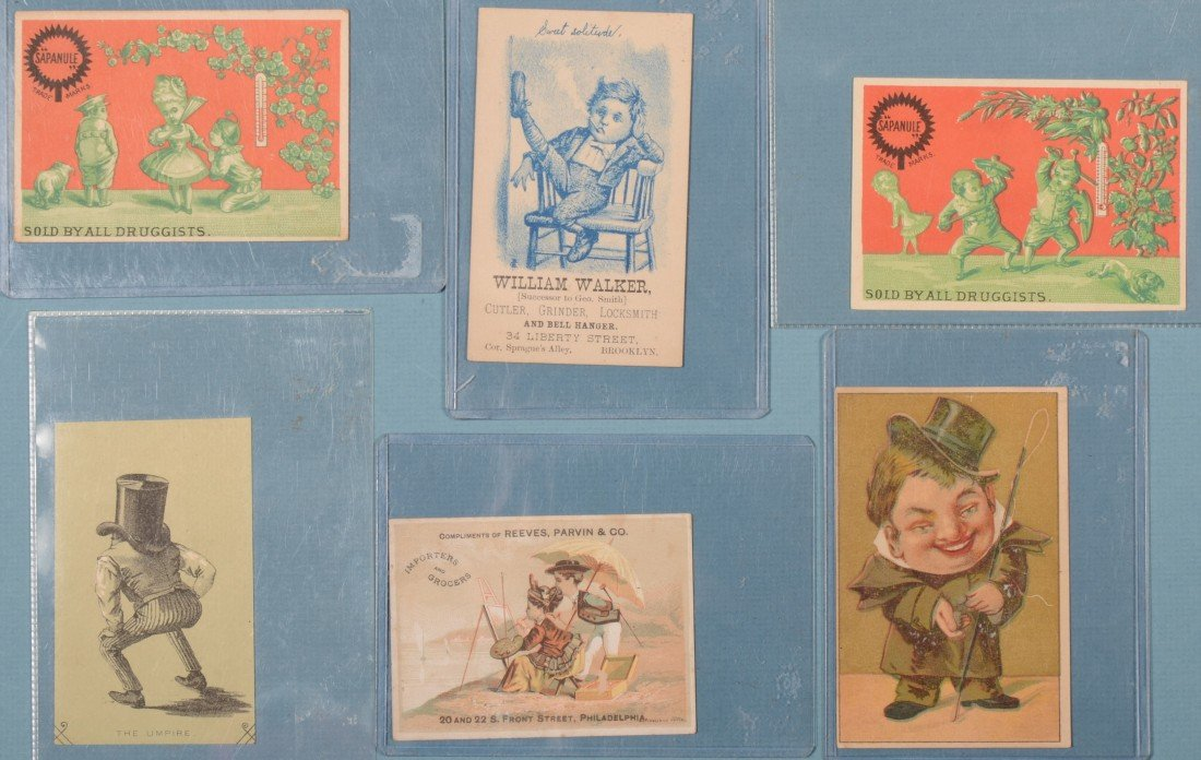 110: Group of Six Trade Cards. William Walker, Cutler a