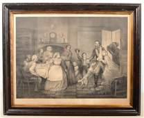 "Civil War Print Titled: ""Home Again."" Large folio"