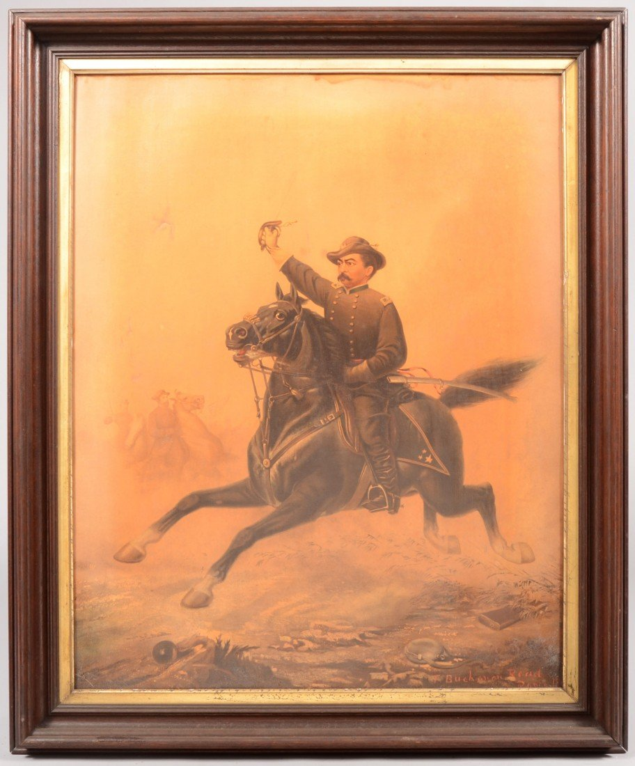 1: Polychrome Lithograph on Canvas. Image of Civil War