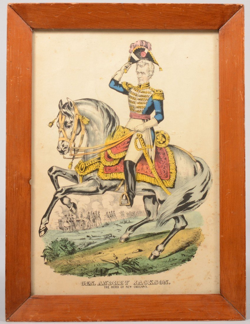 """6: Hand Colored Black and White Print of """"Gen. Andrew J"""