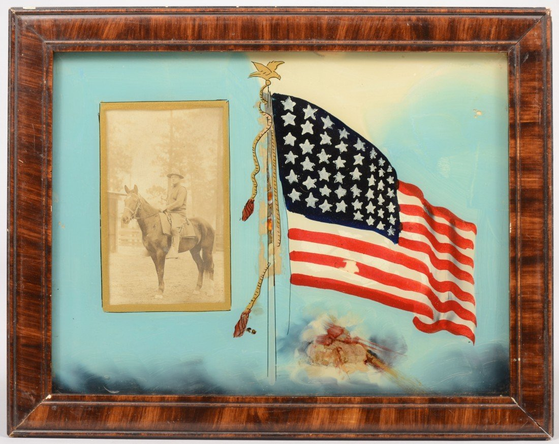 7: Patriotic Reverse Glass Matte with a Real Photo Post