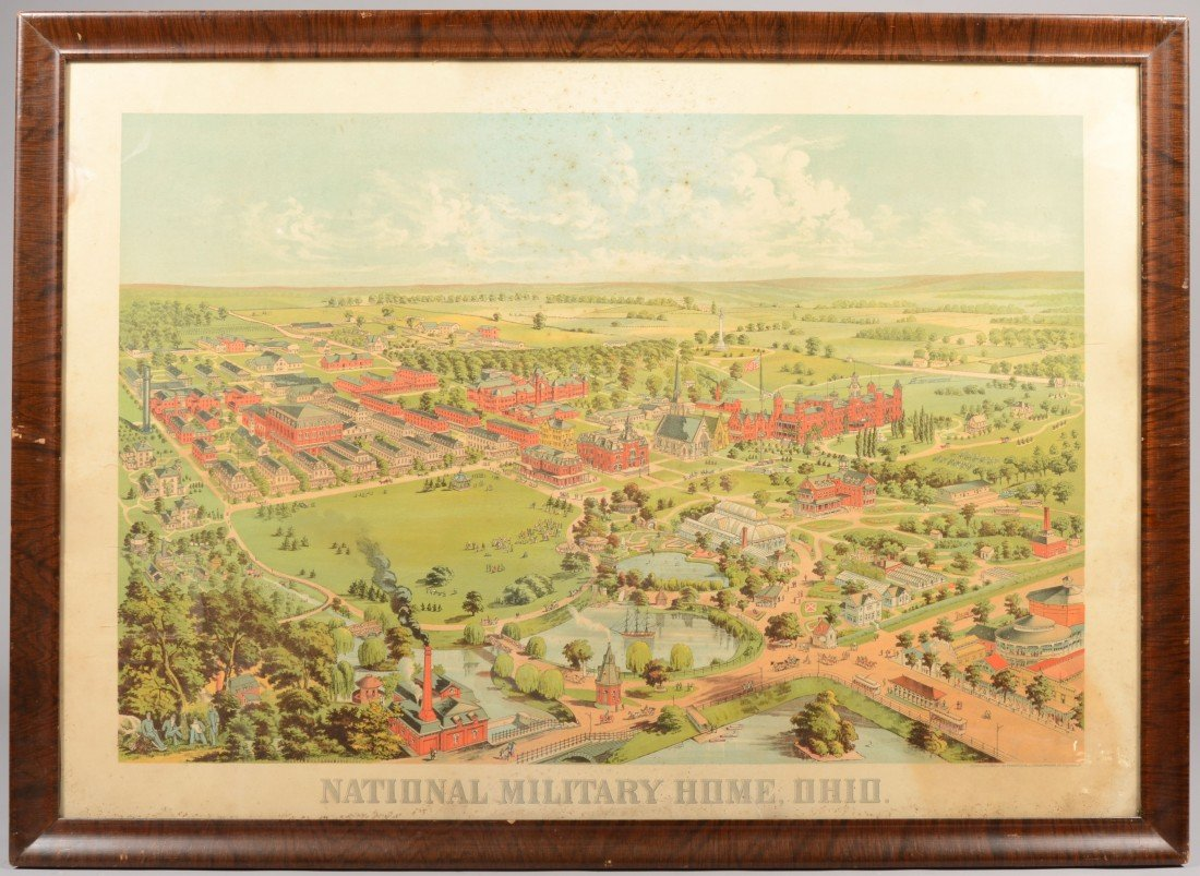 """24: Large Color Lithograph of """"National Military Home,"""