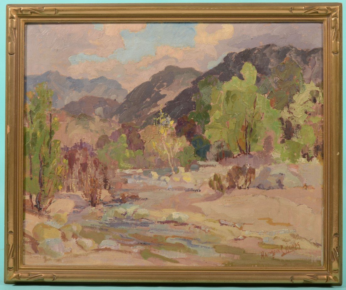 74: Impressionist Landscape, Oil on Canvas. Signed in l