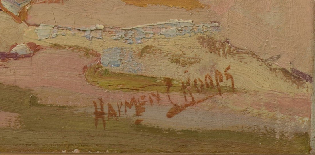 74: Impressionist Landscape, Oil on Canvas. Signed in l - 2