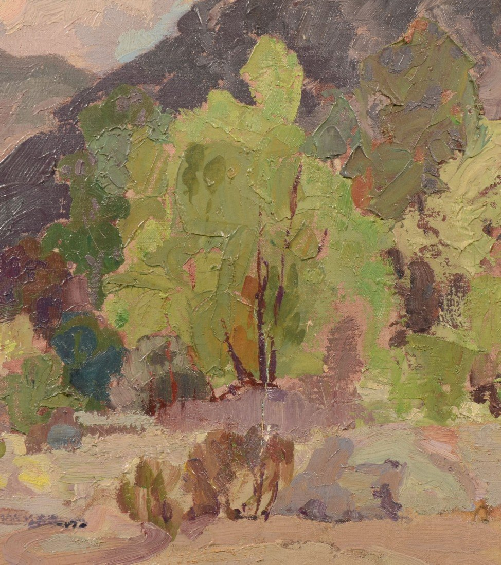74: Impressionist Landscape, Oil on Canvas. Signed in l - 3