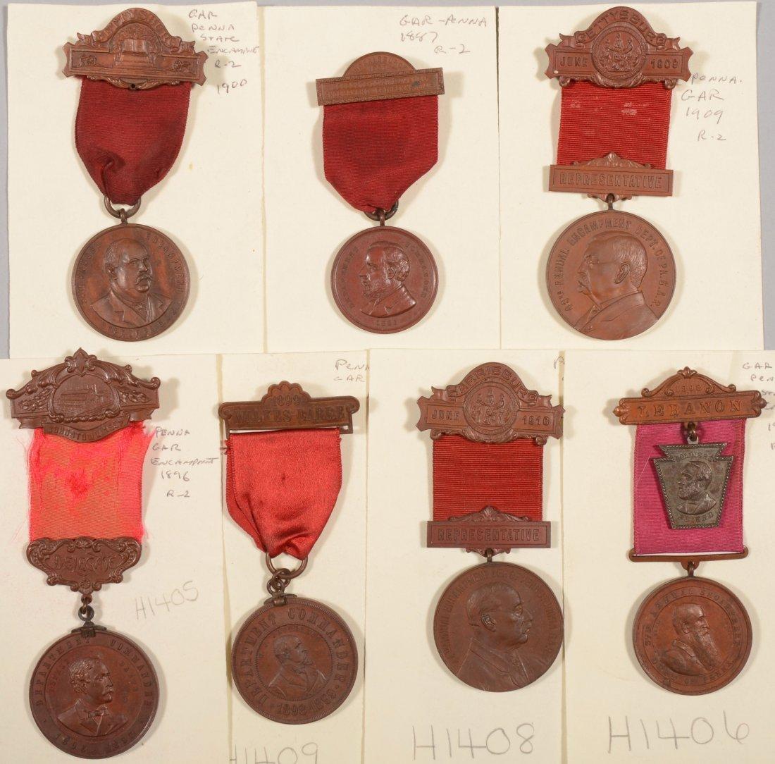1: Lot of (7) GAR Pennsylvania Encampment medals dated