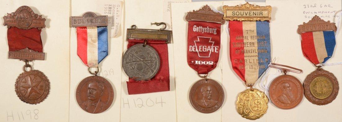 2: Lot of (7) GAR Pennsylvania Encampment medals dated
